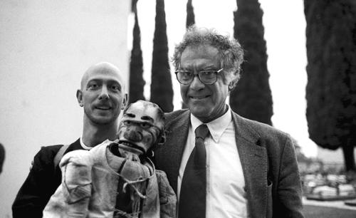Massimo con Carlo Ginzburg e Domenico Scandella detto Menocchio