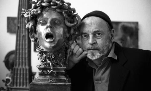 Ivan Theimer nell'atelier di Parigi