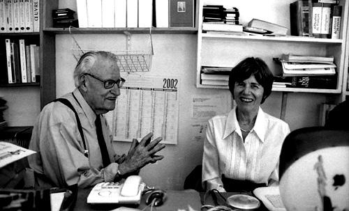 Maurice Nadeau con Anne Sarraute