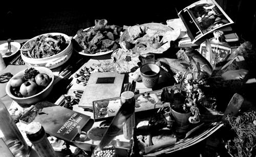 Il tavolo di betulla bianca