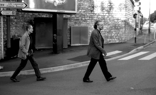 Peter Handke con Erri De Luca a Chaville