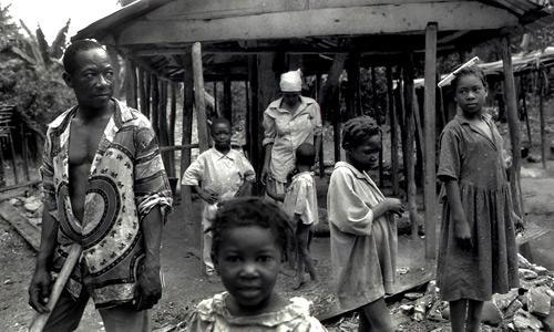 Famiglia haitiana-Port-au-Prince