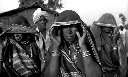 Militanti della Narmada Bachao Andolan-Hapeshawar-Madhya Pradesh