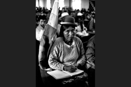 Ester Morales all'Assemblea dei cocaleros e dei senza terra - Oruro