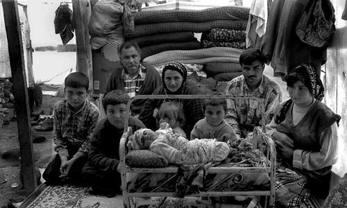 Mendo e Zerga con i figli Chian,Evenin,Hasim,Ali,Rustem,Berivan