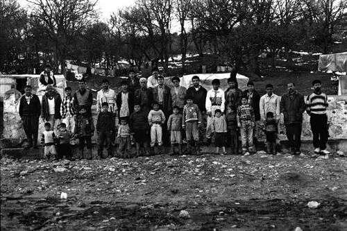 Gli uomini della tendopoli di Kesan-Provincia di Edirne