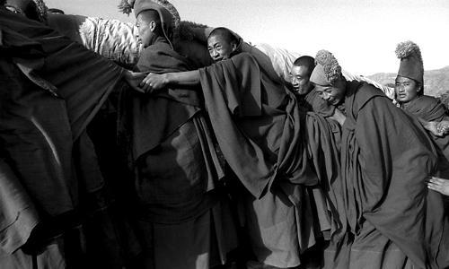 Verso la montagna con il Buddha gigante - Xiah'e - Gansu