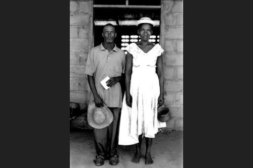 Coppia haitiana a Terre Rosse